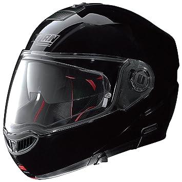 Nolan N104 Absolute Classic – Casco Moto policarbonato N- Com – Negro Brillante Tamaño M