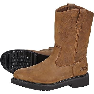 156bc55b038 Amazon.com: Gravel Gear Men's 10in. Steel Toe Wellington Boot ...