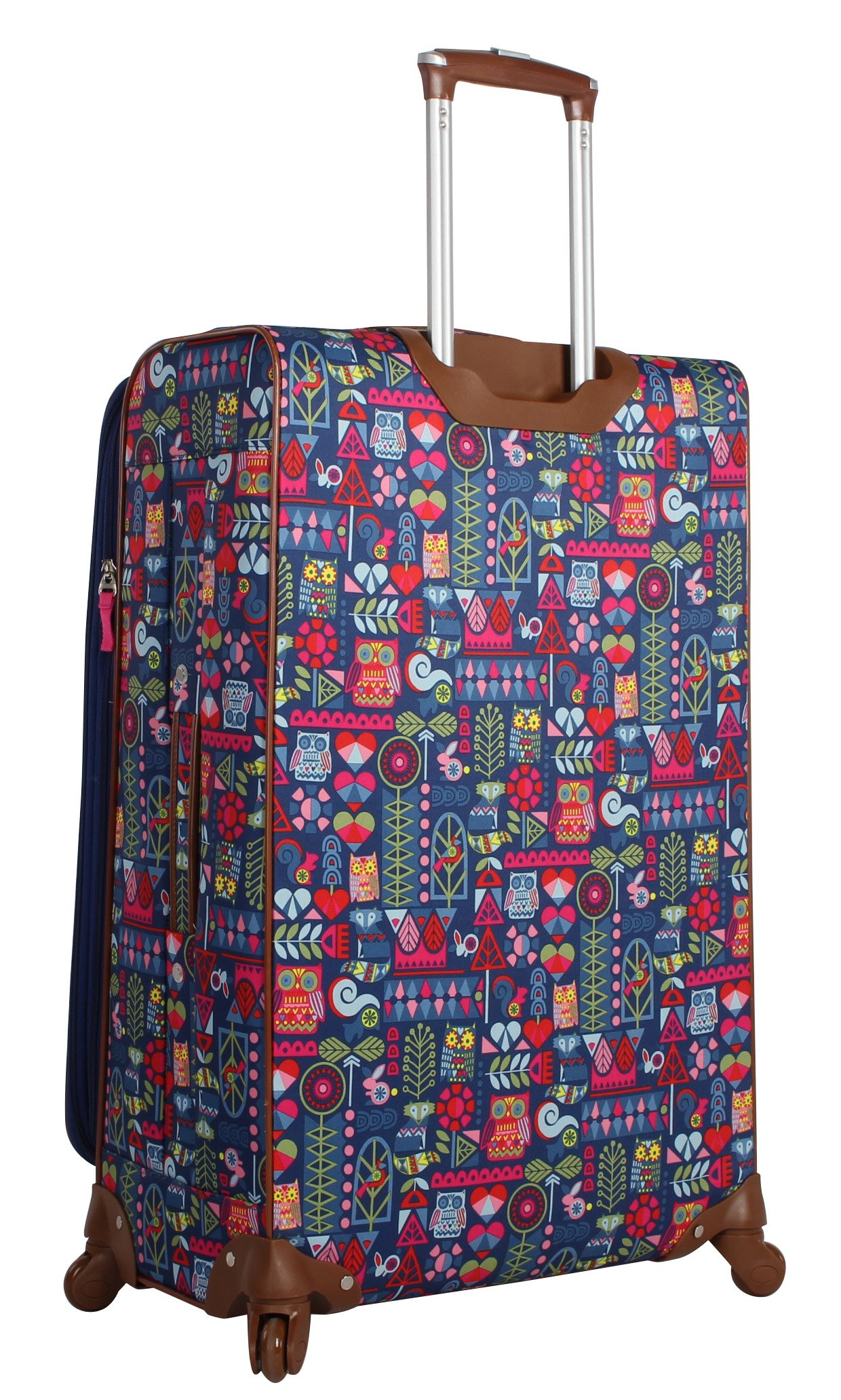 Lily Bloom Luggage 3 Piece Softside Spinner Suitcase Set Collection (Geo Critter) by Lily Bloom (Image #3)