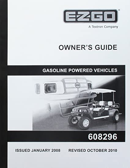 Amazon com : EZGO 608296 2008 Current Owners Manual ST Shuttle 4/6