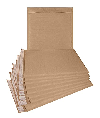 Natural Kraft Bubble Mailers 25 Pack 6x9 Padded Envelopes 6 X 9 Brown Cushion Mailers Kraft Paper Mailing Envelopes With Peel N Seel Bubble Shipping