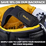Gold BJJ Headgear for Jiu Jitsu, Wrestling, and MMA