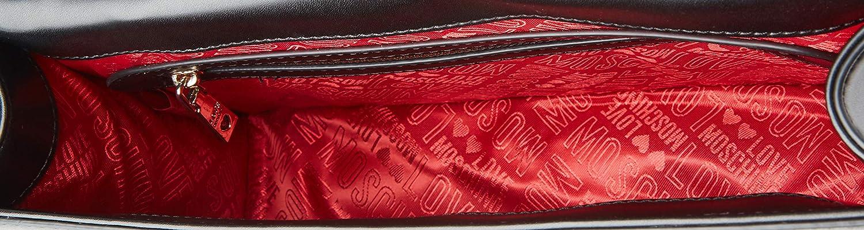 Moschino Borsa donna Love tracolla in ecopelle traforata colore bianco/rosso Bianco