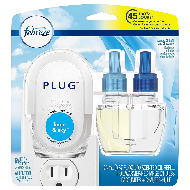 Febreze Plug Air Freshener Starter Kit, Linen & Sky, 1 Count Procter and Gamble FBRZ NT Linen&Sky FWP 4/.879z