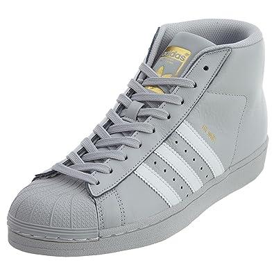 adidas Originals Mens Pro Model Sneaker Grey/White/Grey 6.5 M US