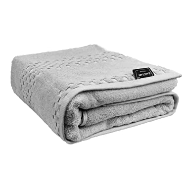 Packall 100% Turkish Cotton Luxury Bath Towels Sheets Extra Large 35x70 inch Extra Thick 920G High GSM - Soft & Absorbent, Light Grey