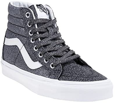 Vans SK8 Hi Lurex Glitter Black Womens Leather Trainers  Amazon.co.uk   Shoes   Bags f09764f2d
