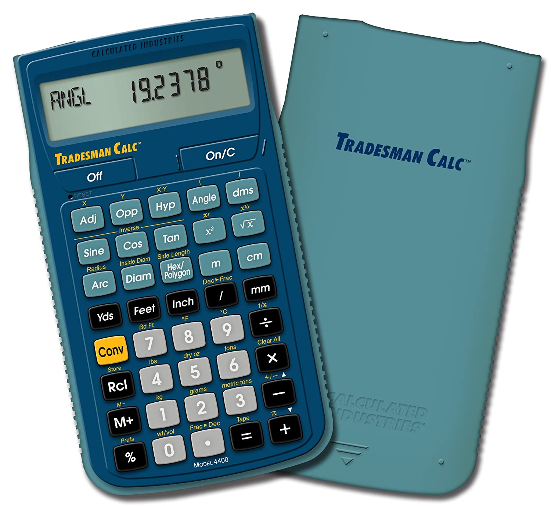 calculated industries 4400 tradesman calc trades math