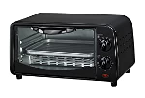 Courant TO-942K 4 Slice Countertop Toaster Oven with Bake and Broil Functions and 30 Minute Timer, Black