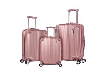 Amazon Com Rockland Hardside Spinner 3 Piece Luggage Set