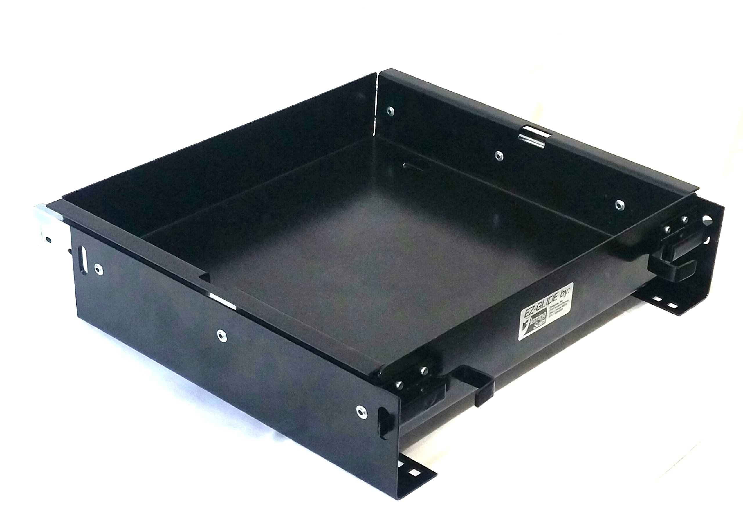 EZ-GLIDE BT1413100BK Black 14'' x 13.25'' Battery Tray by EZ-GLIDE