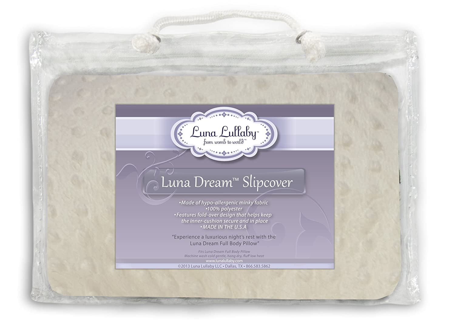 Luna Lullaby Luna Dream Slip Cover, Ivory Dot LDS-2033