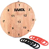 HAKOL Ultimate Hook & Ring Toss Game for Kids & Adults Fun & Educational Alternative to Throwing Darts | Sturdy Board, Safe & Durable Design | Great for Home Or Office Idea