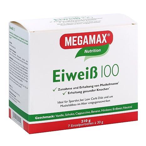 MEGAMAX Eiweiß - Kit para principiantes - Proteínas lácteas y de suero de leche - Crecimiento