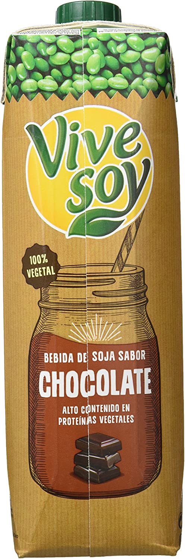 Vivesoy - Bebida de Soja con Chocolate - 1 L - [Pack de 8]