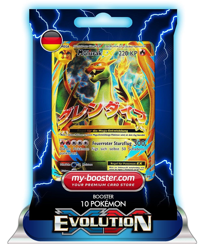 Pokemon Karten Mega Glurak Ex.Mega Glurak Ex Full Art 101 108 220kp Xy12 Evolution