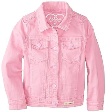 ef21d4861ba9 Amazon.com: Hatley Little Girls' Stretch Denim Jacket, Pink, 8: Clothing