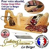 Guillotine, Trancheuse à saucisson Traditionnel LE BERGER Fabriqué en France, SECURITE PROTEGE DOIGT, + Lame de rechange