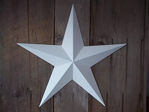 Heavy Duty Metal Star 16″ Painted Solid White. These Metal Stars Are a Great Addition to Your Home Decor. You Will Not Be Disappointed