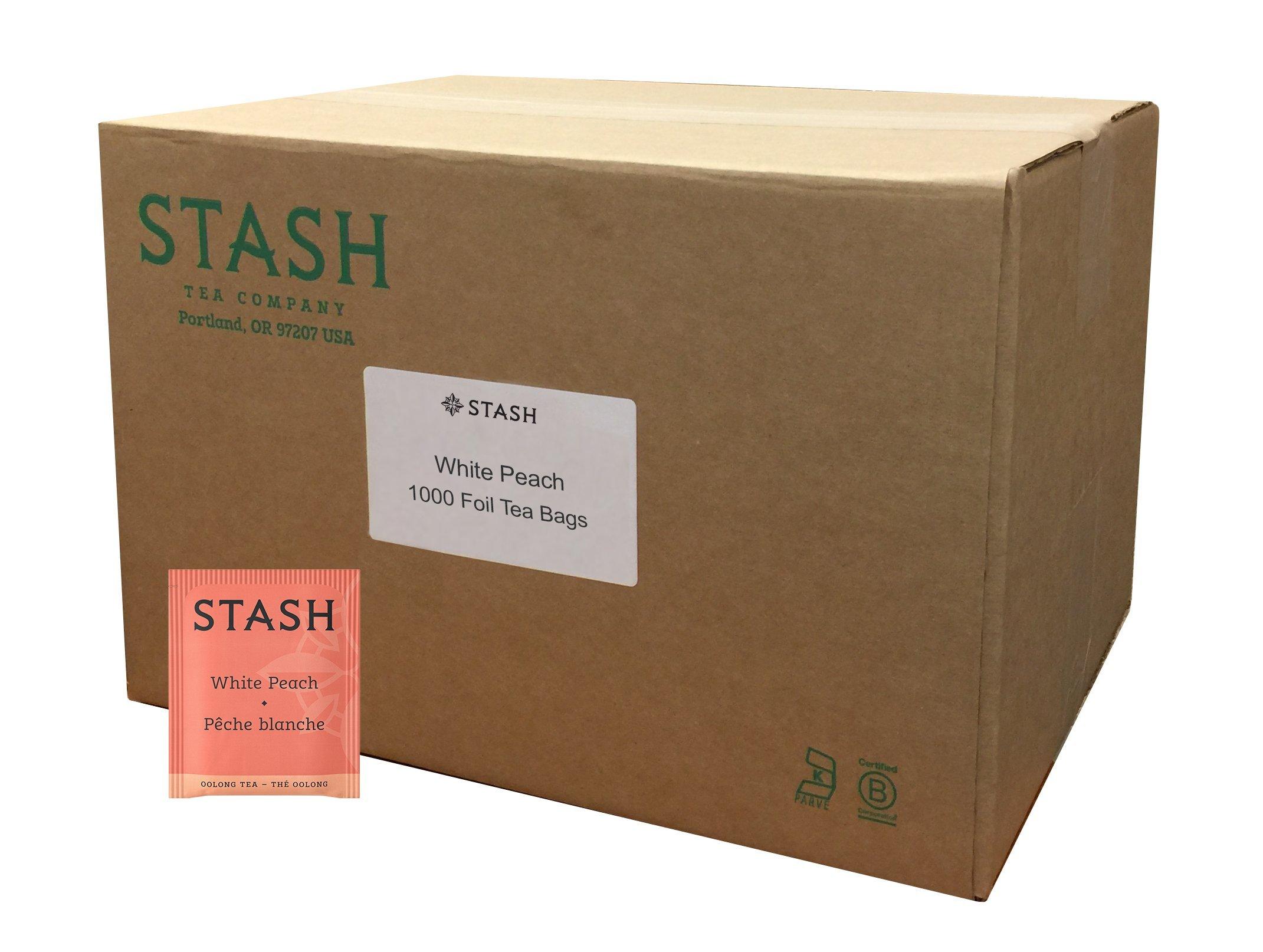 Stash Tea White Peach Wuyi Oolong Tea 1000 Tea Bags in Foil Individual Oolong Black Tea Bags, Use in Teapots Mugs or Cups, Brew Hot Tea or Iced Tea by Stash Tea