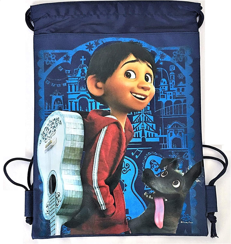 Disney Blue Mickey Mouse Theme Park Tote Bag Drawstring School Backpack Gym Bag
