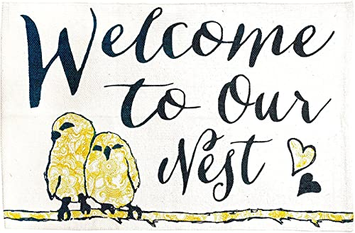 Jozie B Welcome to Our Nest Cotton Indoor Rug