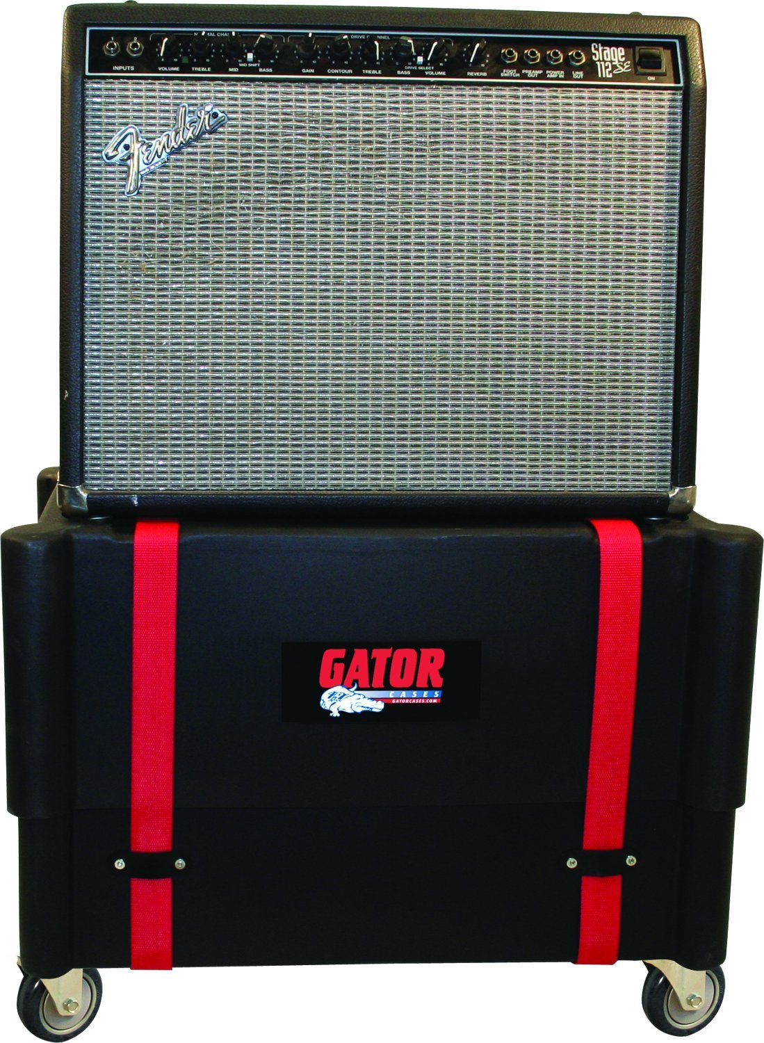 Gator Cases Molded Plastic Guitar Amp Transporter, and Stand, with Caster Wheels; Fits 1x12 Combo Amps (G-ROTO-112) by Gator