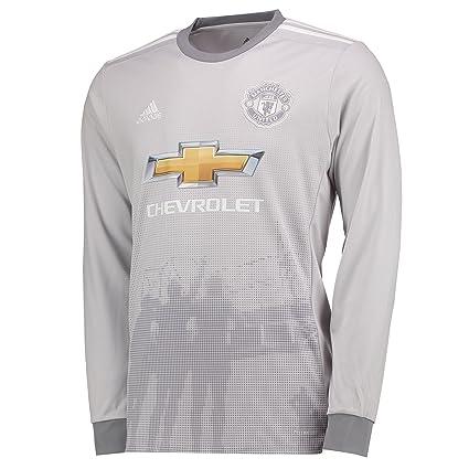 4cf4cb1b10d adidas 2017-2018 Man Utd Third Long Sleeve Football Soccer T-Shirt Jersey