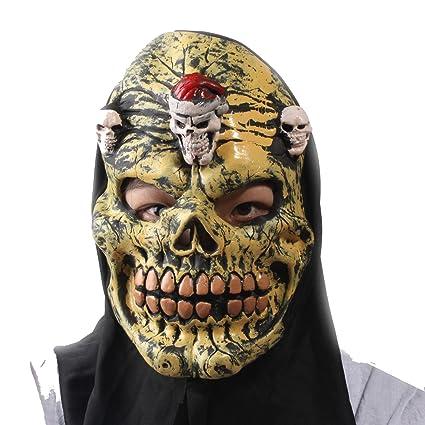 amazon com demon skull mask halloween face off costume scary devil