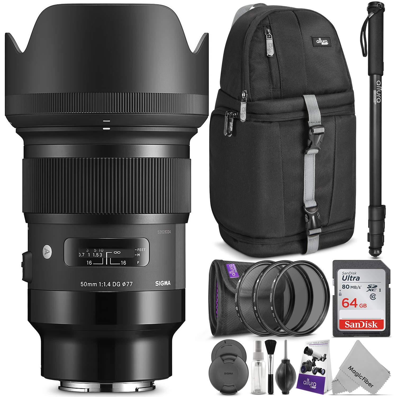シグマ50 mm f / 1.4 DG HSM Artレンズfor Sony EマウントカメラW/高度なフォトと旅行バンドル   B07BRCQ8H3