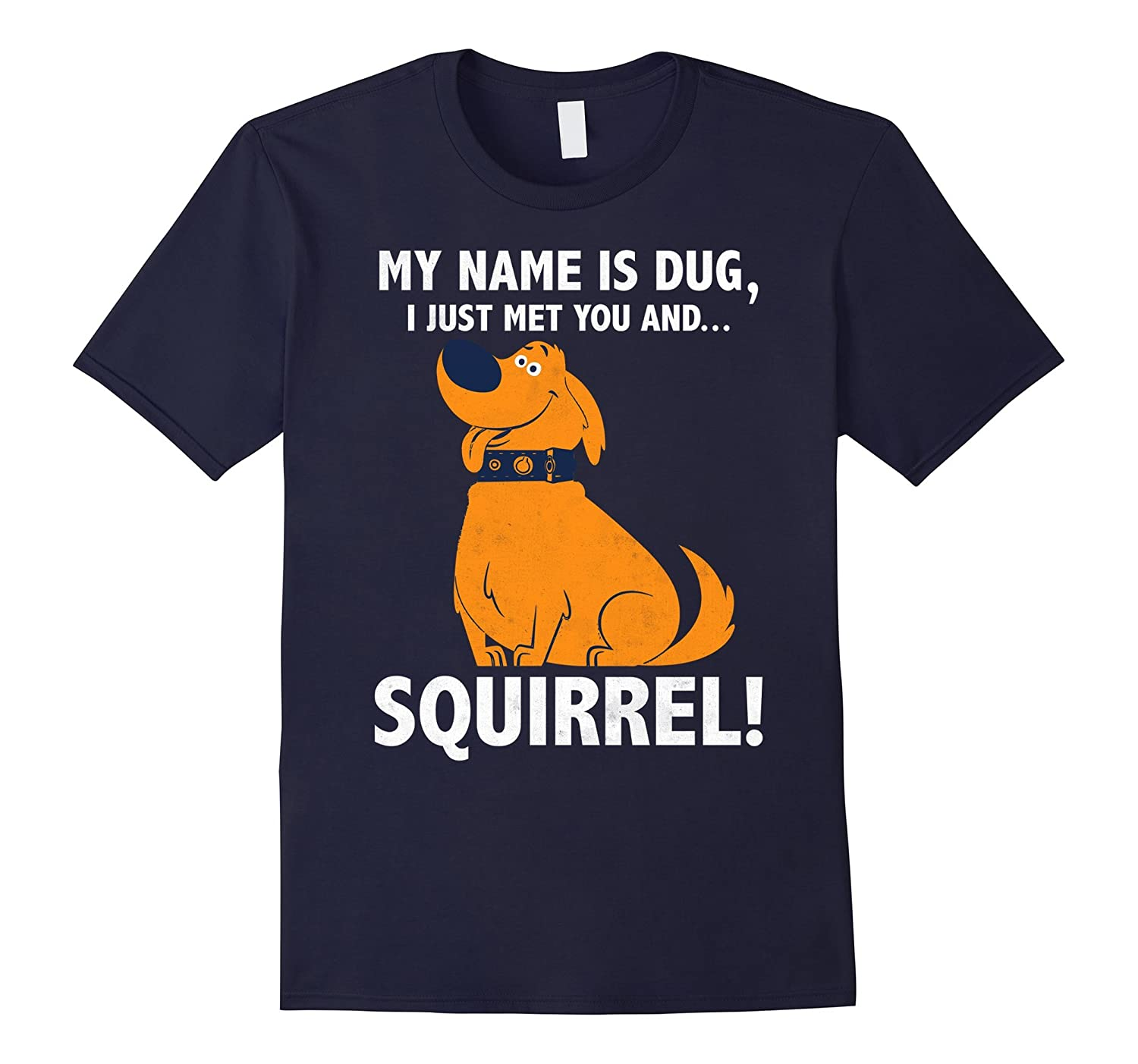 Disney Up My Name is Dug Squirrel Graphic T-Shirt-PL