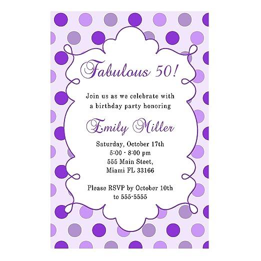 30 morado lavanda adultos fiesta de cumpleaños invitaciones ...