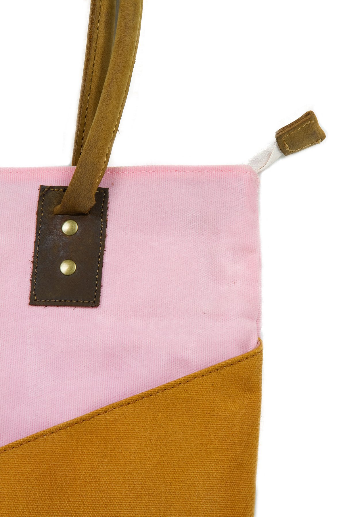 Large Waxed Canvas Tote Bag for Women | the JOPLIN TALL TOTE by FAT FELT (Desert) by FAT FELT (Image #3)