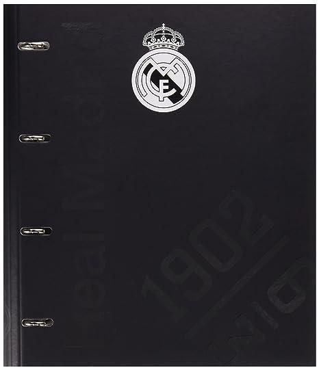Grupo Erik Editores Premium - Carpeta troquelada, 4 anillas, diseño Real Madrid, 32