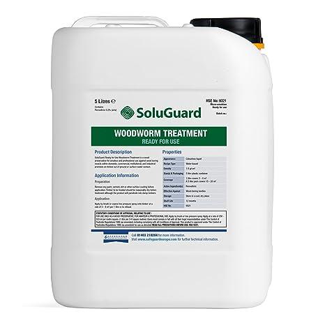 Tratamiento de Woodworm Soluguard 5L – listo para usar alta resistencia Woodworm Killer Spray