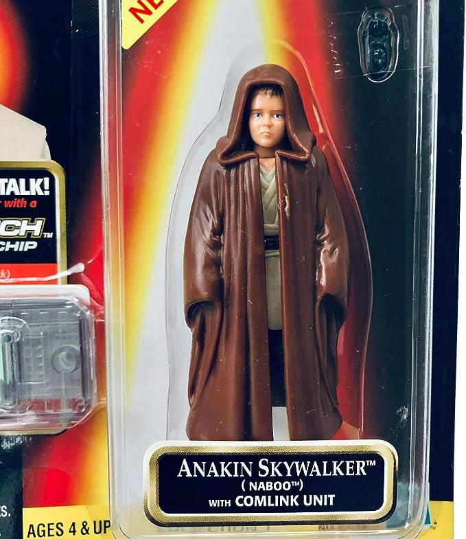 Star Wars Episode 1 Electronic Handheld Naboo Fighter Game w Anakin Figure NIB