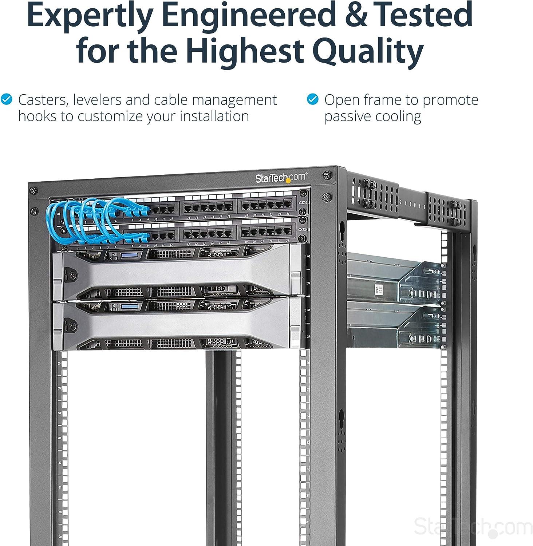 StarTech 4POSTRACK42 - Rack Bastidor Abierto de servidores (4 columnas 42U, Profundidad Ajustable con Ruedas niveladores y gestión de Cables): Startech: Amazon.es: Informática