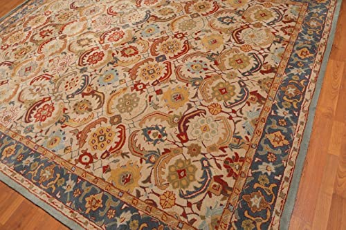 Old Hand Made Abbey Floral Traditional Persian Oriental Woolen Area Rugs 9'x12'