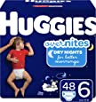Diapers Size 6 - Huggies Overnites Night Time Disposable Diapers, 48ct, Giga Pack