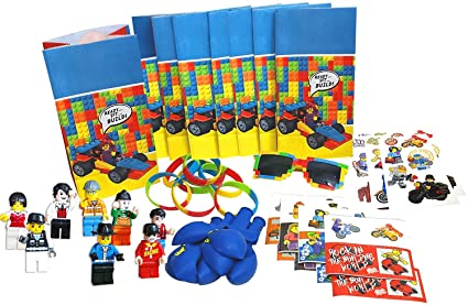 Party Favor Set For Building Brick Themed Birthday Fun 8 Packs Of