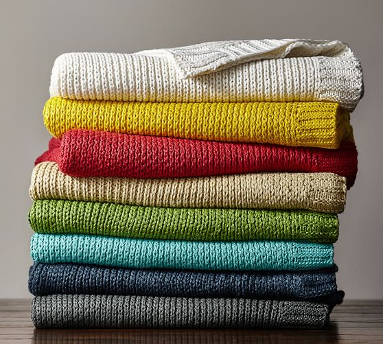 Perry Knit Throw | Pottery Barn