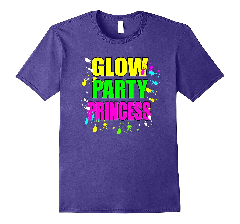 Glow Party Princess Paint Splatter Glow Theme Party Shirt-FL