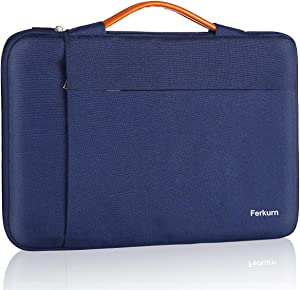 Ferkurn 11 11.6 12 Inch Chromebook Case Laptop Sleeve Water Repellent Bag with Handle Compatible with Surface, Notebook,Dell, Acer, 13 inch MacBook pro, Protective Carrying Computer Bag For Women,Blue
