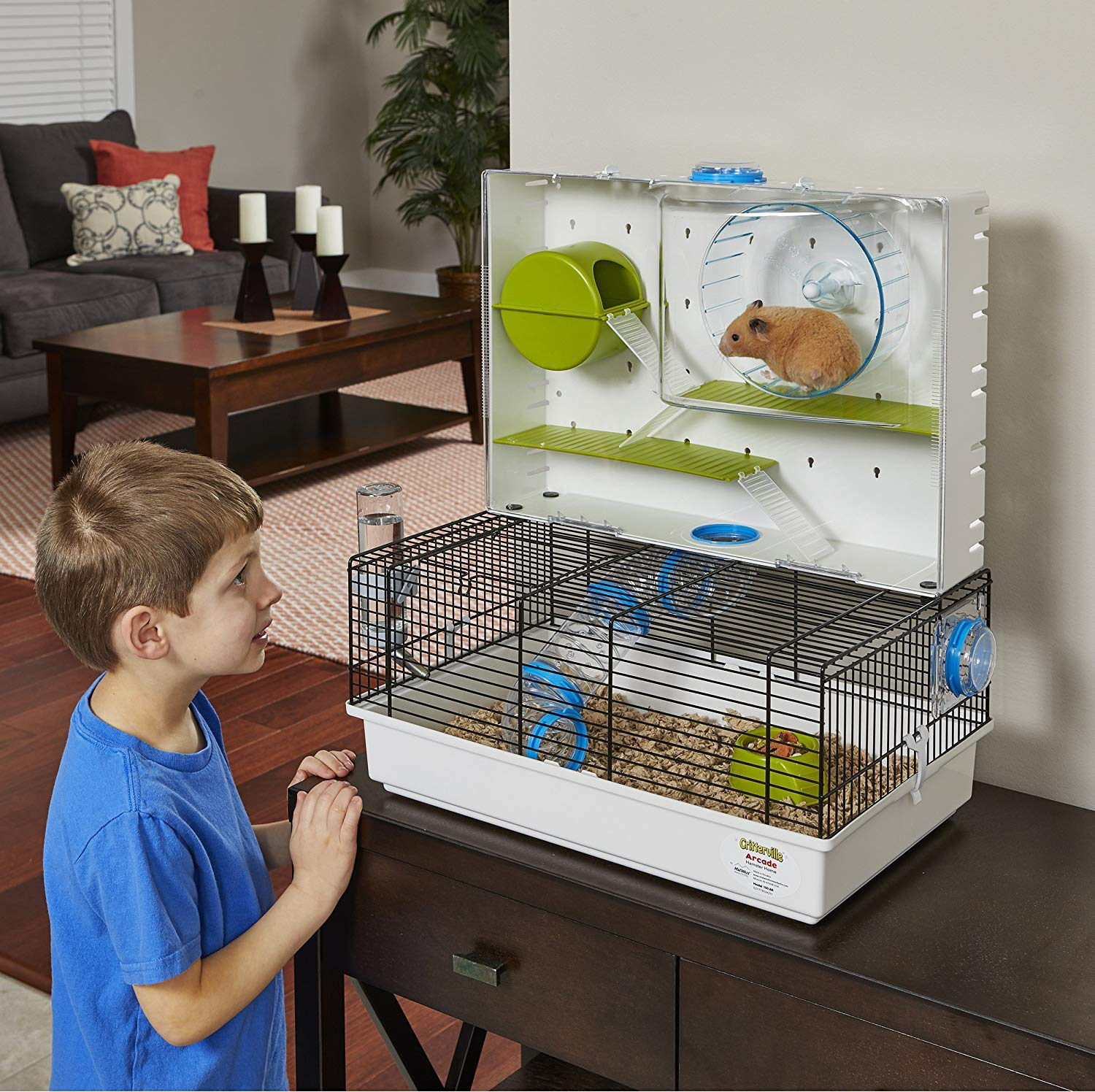MidWest Homes for Pets Hamster Cage | Awesome Arcade Hamster Home | 18.11'' x 11.61'' x 21.26'' by MidWest Homes for Pets (Image #7)