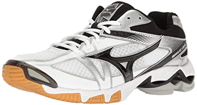 Mizuno Men's Wave Bolt 6 Volleyball Shoe, White/Black, ...
