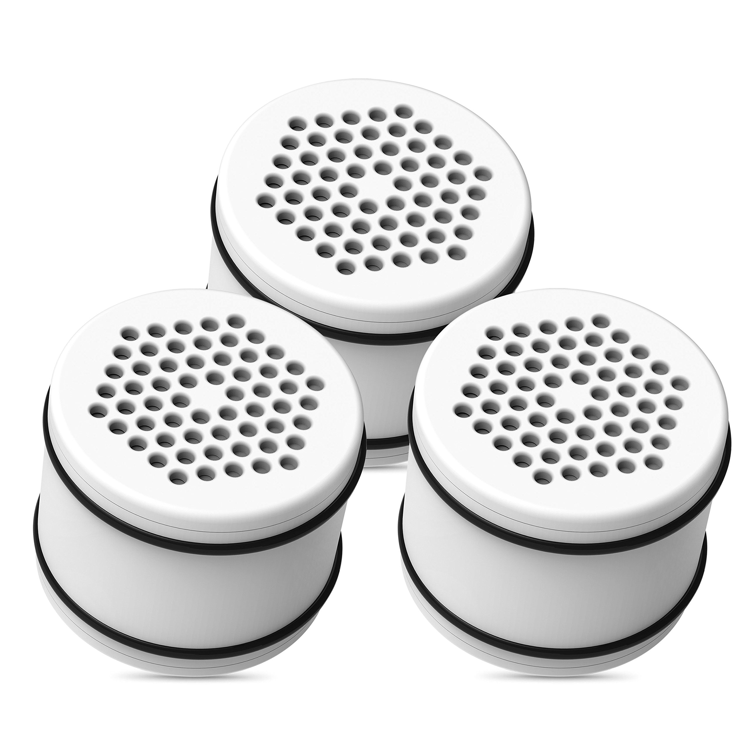 Waterdrop WHR-140 Shower Head Water Filter, Replacement for Culligan ISH-100, WHR-140, WSH-C125, HSH-C135, with Advanced KDF Filtration Material, Pack of 3 by Waterdrop