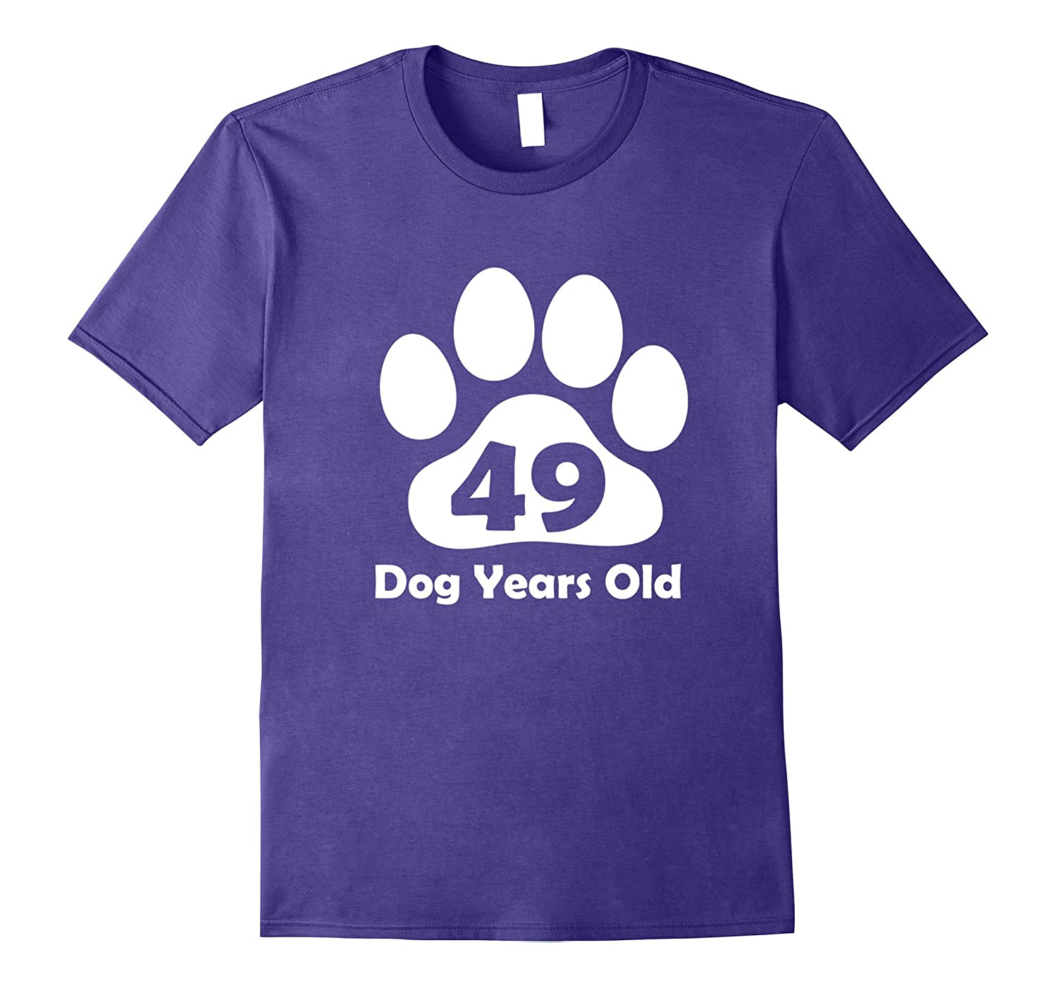 49 Dog Years Old T-Shirt Funny 7th Birthday Gift Puppy Lover-TH