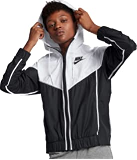 8e48269a0c7 Amazon.com: NIKE Girls Sportswear Windrunner Big Kids Full Zip Grey ...