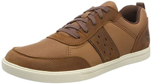Timberland Fulk, Zapatos de Cordones Oxford para Hombre, Marrón (Glazed Ginger Saddleback 358), 44 EU