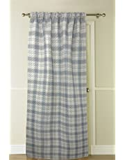 Tartan Check Header Tape Embossed Thermal Door Curtain by Country Club
